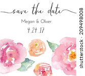 save the date calligraphy text...
