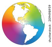 rainbow color gradient planet... | Shutterstock .eps vector #209498959