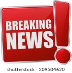 modern red breaking news sign | Shutterstock .eps vector #209504620