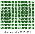 hundred of environmental icons  ... | Shutterstock .eps vector #20951839