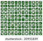 hundred of environmental icons  ... | Shutterstock .eps vector #20951839