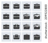 portfolio icon set for web and... | Shutterstock .eps vector #209522800