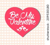 simple valentine's day card... | Shutterstock .eps vector #209530180