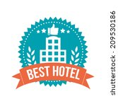 simple best hotel banner tag | Shutterstock .eps vector #209530186