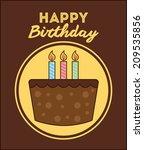 birthday design over  brown... | Shutterstock .eps vector #209535856