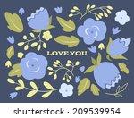 floral wedding or valentine's... | Shutterstock .eps vector #209539954