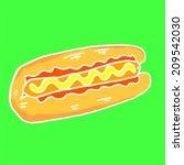 hot dog | Shutterstock .eps vector #209542030
