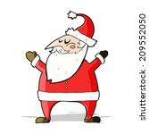 cartoon santa | Shutterstock .eps vector #209552050