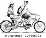 tandem | Shutterstock .eps vector #209556736