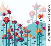 vector illustration of flowers... | Shutterstock .eps vector #209572903