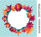 vector illustration of flowers. ... | Shutterstock .eps vector #209572906