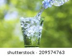 water pouring into glass | Shutterstock . vector #209574763