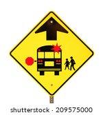 back to school bus stop sign... | Shutterstock . vector #209575000
