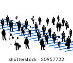 illustration of business people | Shutterstock .eps vector #20957722