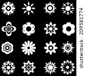 flower vector black and white... | Shutterstock .eps vector #209581774