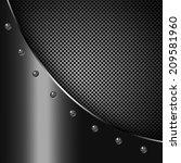 metal dark background with...   Shutterstock . vector #209581960