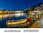 Looe Harbour At Night Cornwall...