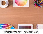 modern office workplace with... | Shutterstock . vector #209584954