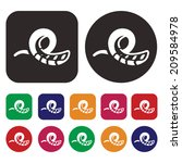 slide icon   aqua park icon   Shutterstock .eps vector #209584978