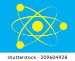 molecule icon. vector | Shutterstock .eps vector #209604928