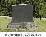 Small photo of Blank Tombstone