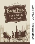 Retro Banner With The Brewery...