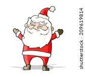cartoon happy santa claus   Shutterstock . vector #209619814