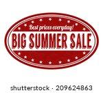 big summer sale grunge rubber... | Shutterstock .eps vector #209624863