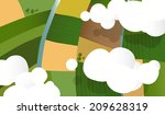 green fields and rivers viewed... | Shutterstock .eps vector #209628319