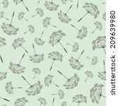 vector illustration seamless...   Shutterstock .eps vector #209639980