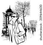 arc,arch,architecture,avenue,bag,car,central,champs,champs-elysees,city,clip-art,de,drawing,elysees,europe