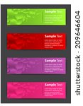 colorful modern text box for... | Shutterstock .eps vector #209646604