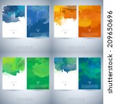 set of bright colorful vector... | Shutterstock .eps vector #209650696