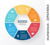 vector circle infographic.... | Shutterstock .eps vector #209654863