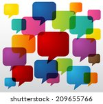colorful speech text bubbles... | Shutterstock .eps vector #209655766