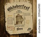 beer background oktoberfest | Shutterstock .eps vector #209666980