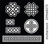 celtic irish patterns and... | Shutterstock .eps vector #209668273