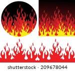 fire. vector illustration....   Shutterstock .eps vector #209678044