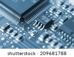 Closeup Of A Printed Circuit...