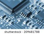 Closeup Of A Printed Circuit...