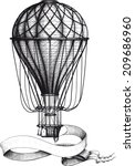 Vintage Hot Air Balloon With...