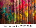 colored fence | Shutterstock . vector #209690356