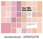 boxy colourful design template