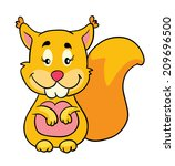 funny squirrel  vector... | Shutterstock .eps vector #209696500