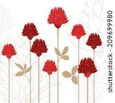 flower card | Shutterstock .eps vector #209699980
