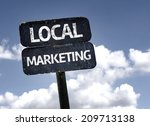local marketing sign with... | Shutterstock . vector #209713138