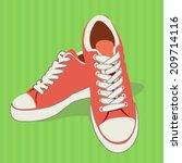 Sports Shoes   Flat Design...