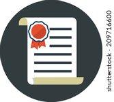 vector flat diploma | Shutterstock .eps vector #209716600
