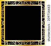 art deco geometric frame  1920... | Shutterstock .eps vector #209716663