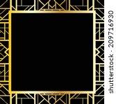 art deco geometric frame  1920... | Shutterstock .eps vector #209716930